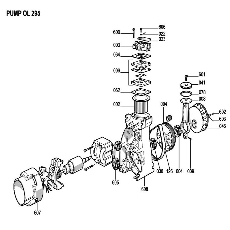 OL295 - Air Compressor Pump Parts schematic