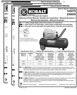 KOBALT Owners Manuals