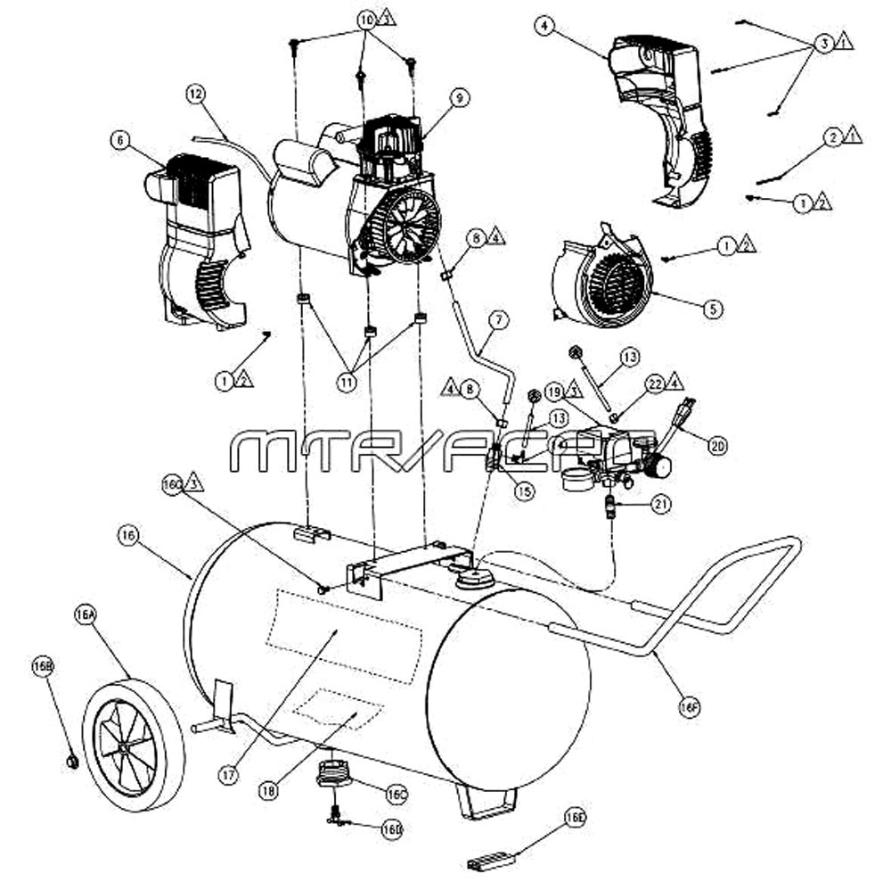 pa0601512 spa0601512 coleman powermate sanborn air compressor parts   coleman generator wiring diagram