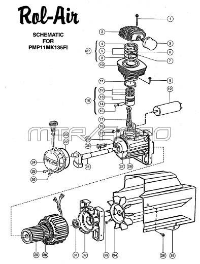 PMP11MK135FI - Air Compressor Pump Parts schematic