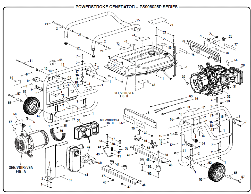 PS906025pschematic powerstroke ps906025p portable gas generator parts  at n-0.co