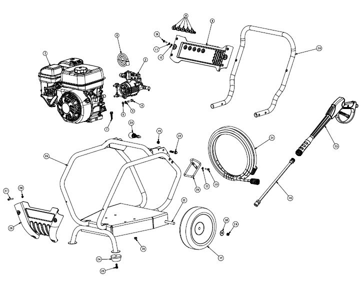 PWZ0163100.02 - pressure washer parts schematic