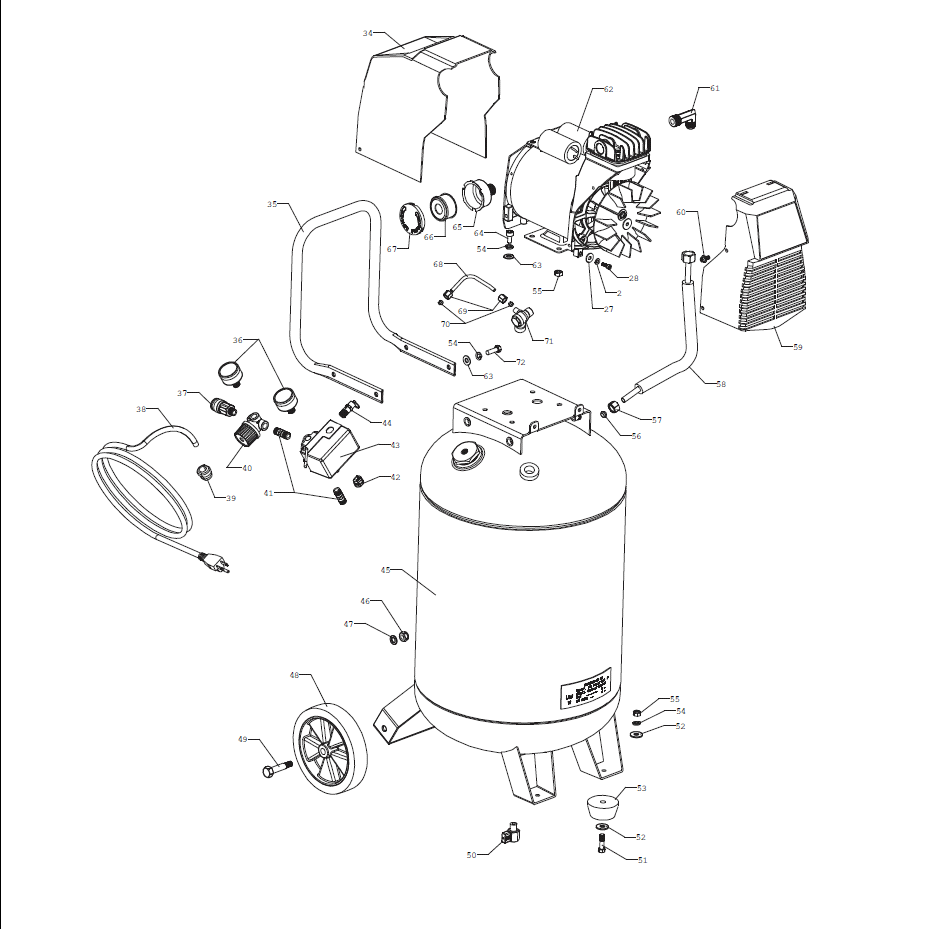 PXCMF220VW - Air Compressor Parts schematic