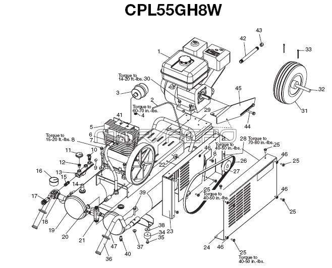 CPL55GH8W - Air Compressor Parts schematic