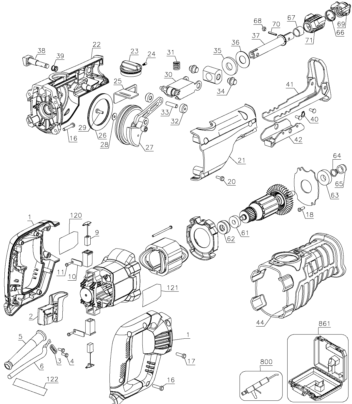 reciprocating saw parts diagram