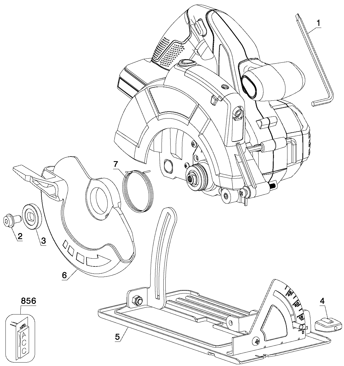 PC18CSL - Cordless Circular Saw Parts schematic