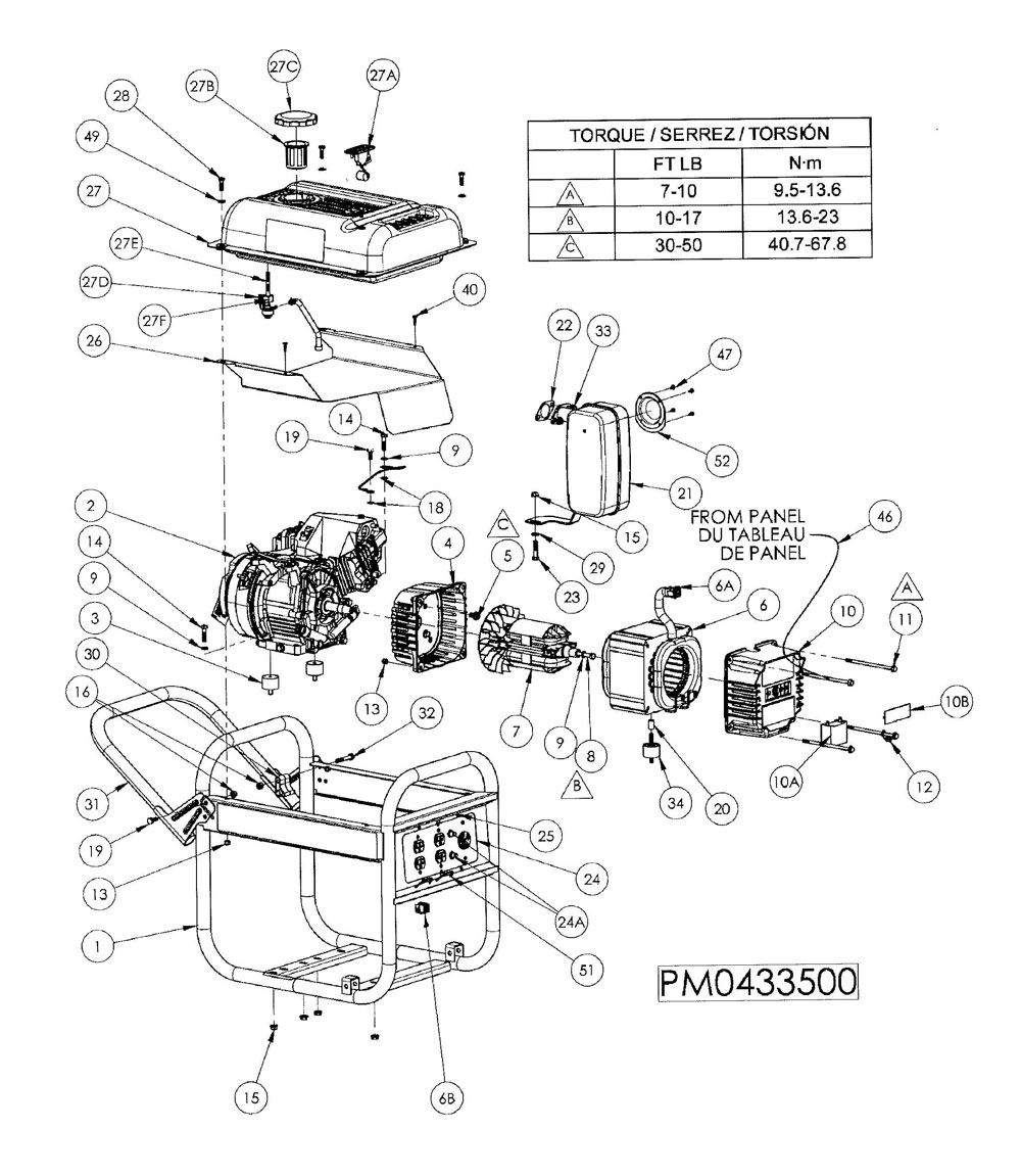 PM0433500 - Generator Parts schematic