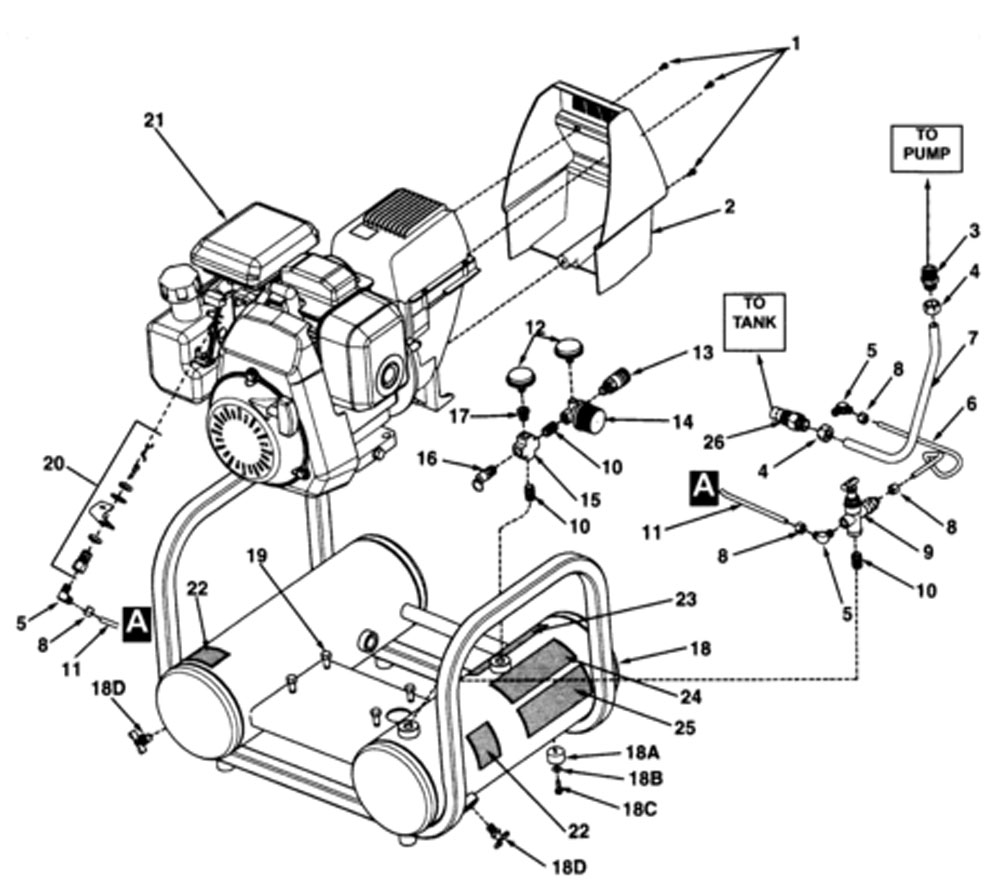 CT4090410 - Air Compressor Parts schematic