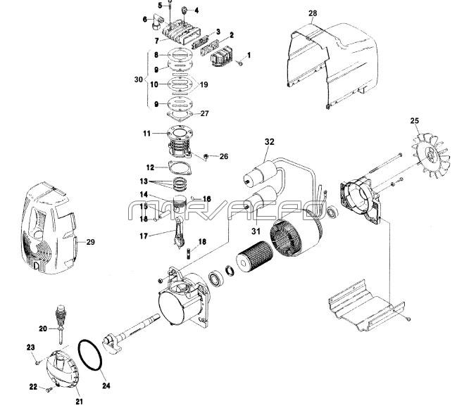 GM212 - Air Compressor Pump Parts schematic