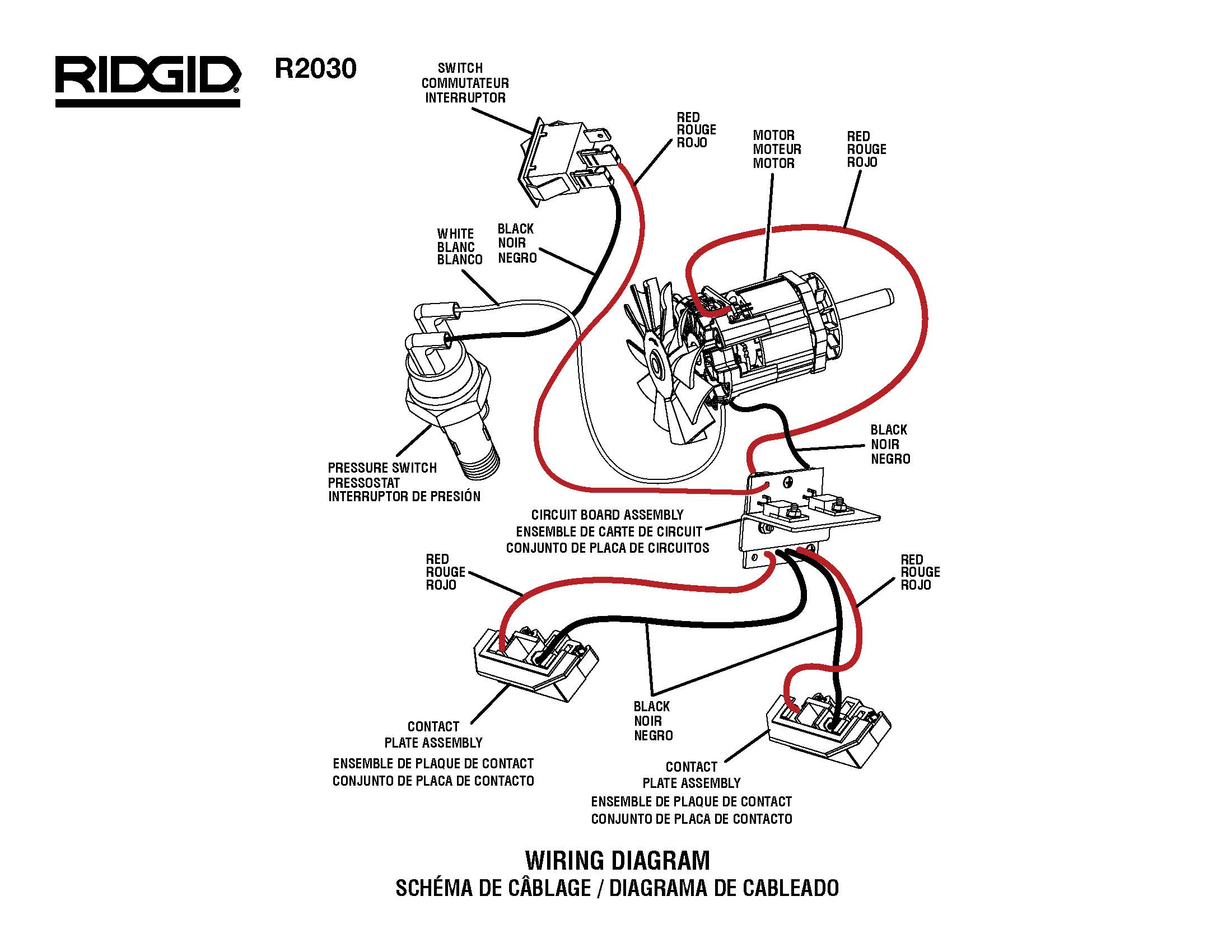 Ridgid R0230 Wiring Diagram Master Tool Repair Vintage Air Diagram Rigid Air  Compressor Wiring Diagram