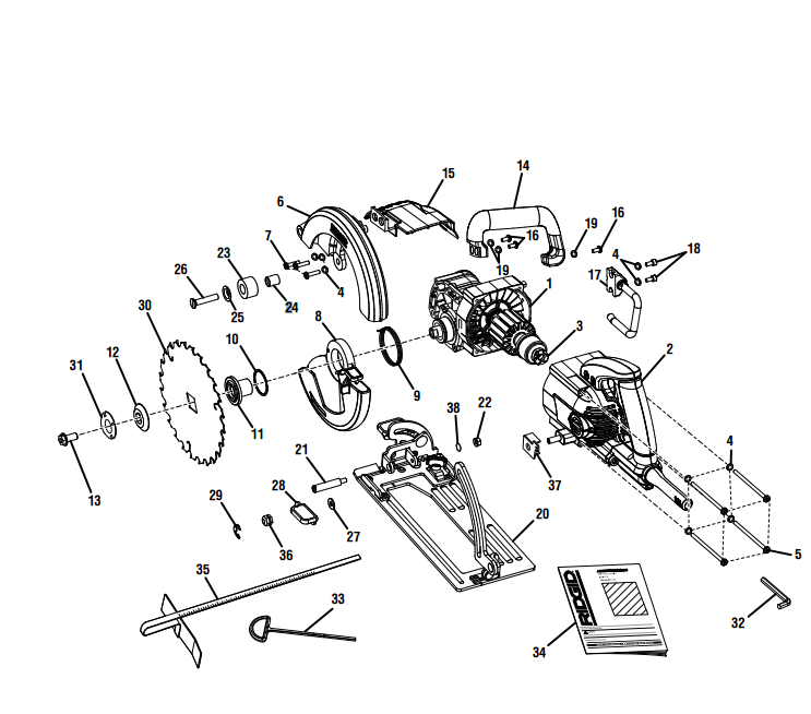 R3210 Figure A - Circular Saw Parts schematic