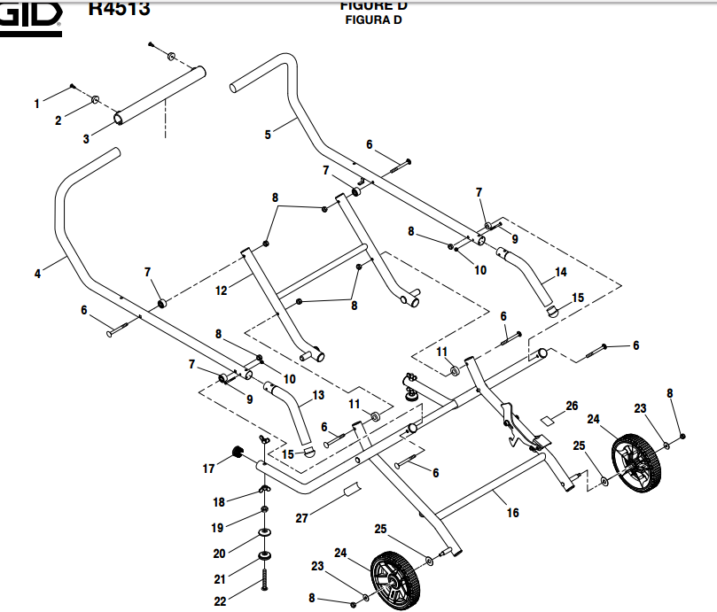 R4513_figureD ridgid r4513 parts master tool repair ridgid r4513 wiring diagram at pacquiaovsvargaslive.co
