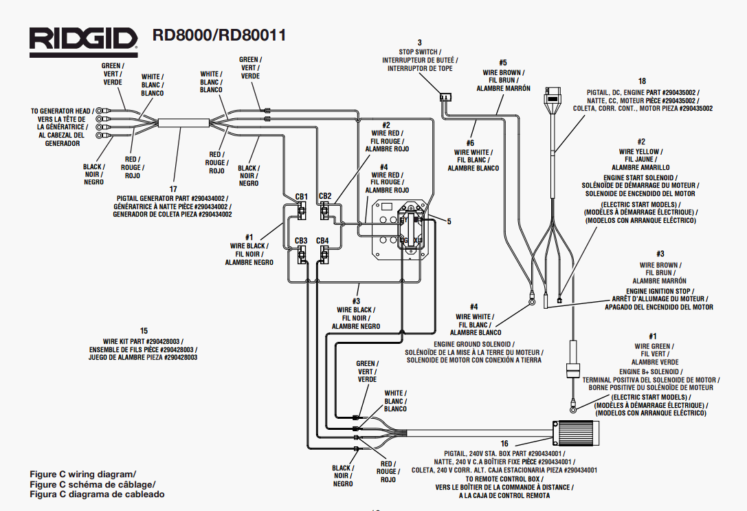 Ridgid rd8000 rd80011 parts master tool repair ridgid rd8000 rd80011 wiring diagram keyboard keysfo Choice Image