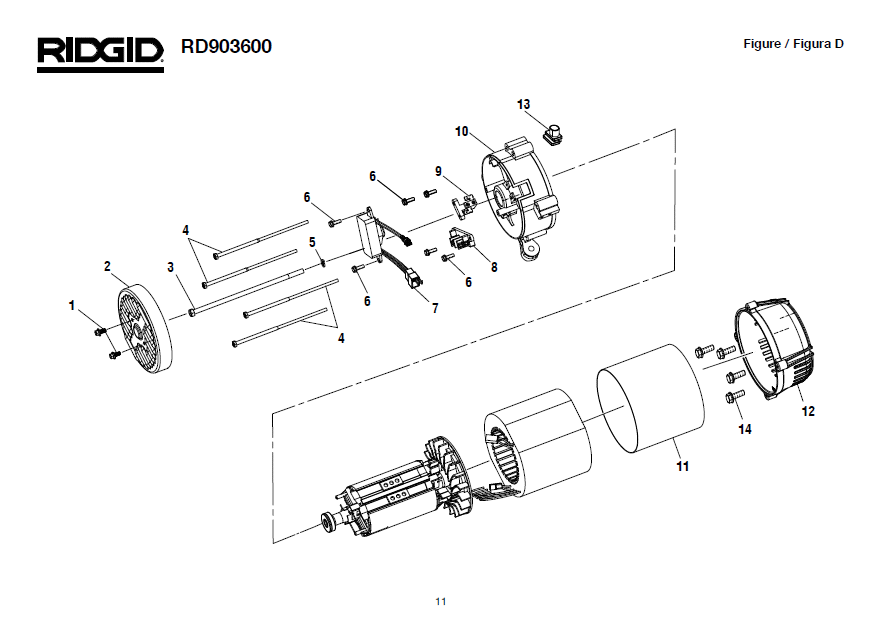 wiring diagram for ridgid 300 motor  wiring  get free