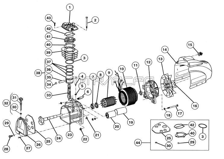 PMP11SF2500FC - Air Compressor Pump Parts schematic