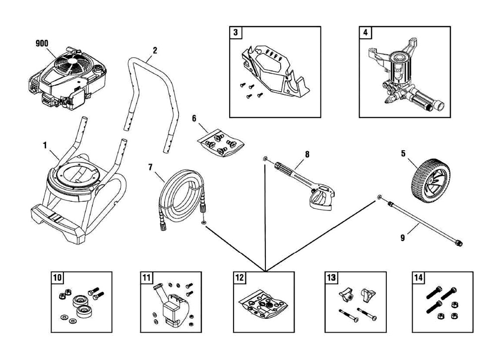 020486, 020486-00, 20486 - Portable Gas Pressure Washer Parts schematic