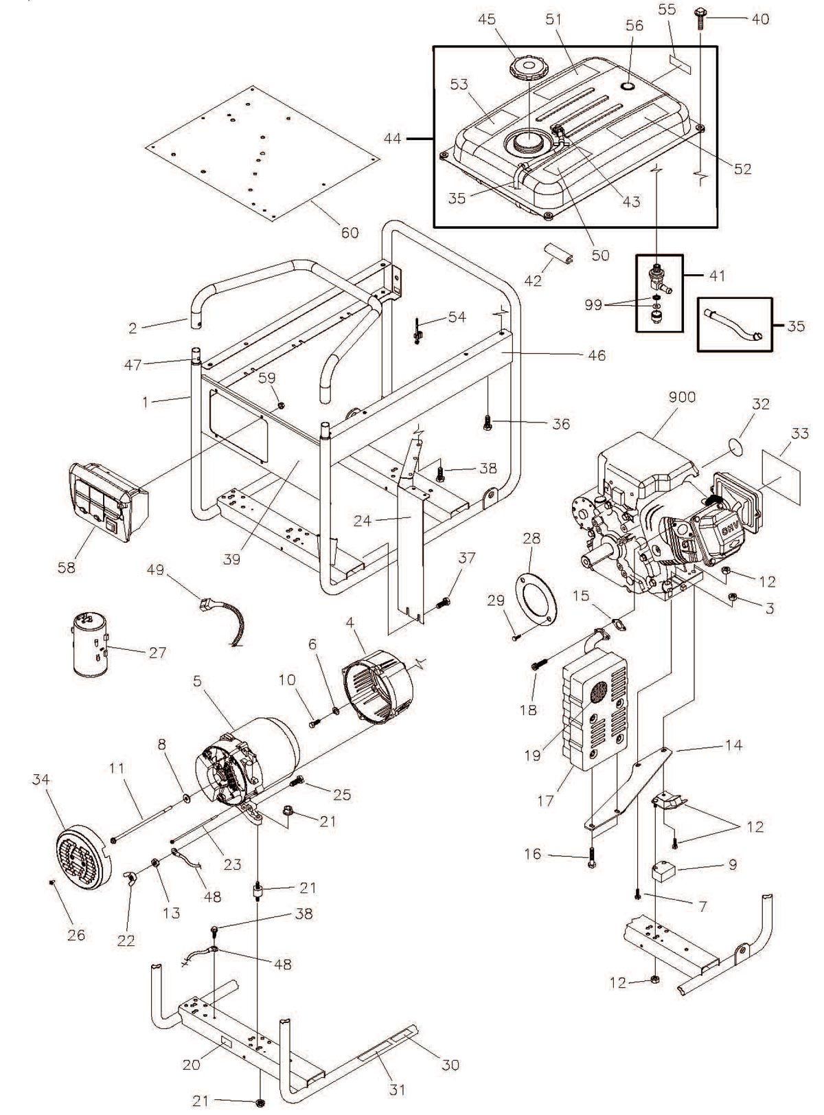 030446, 30446 - Generator Main Unit Parts schematic