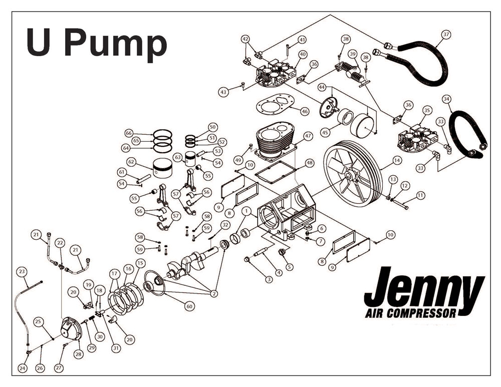 U - Air Compressor Pump Parts schematic