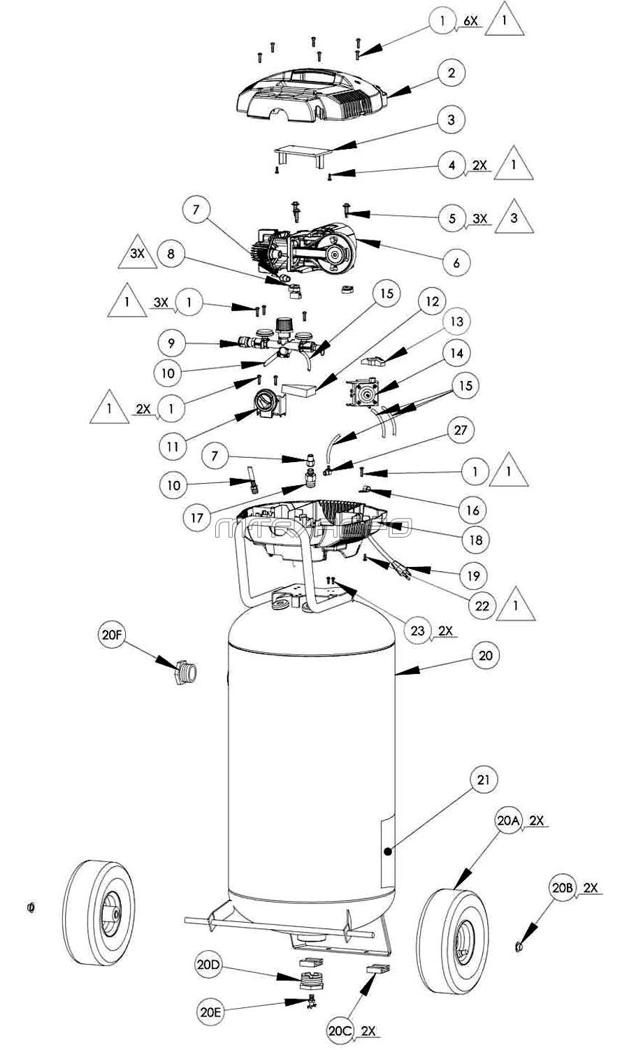 VLH-1582609, 417270 - Air Compressor Parts schematic