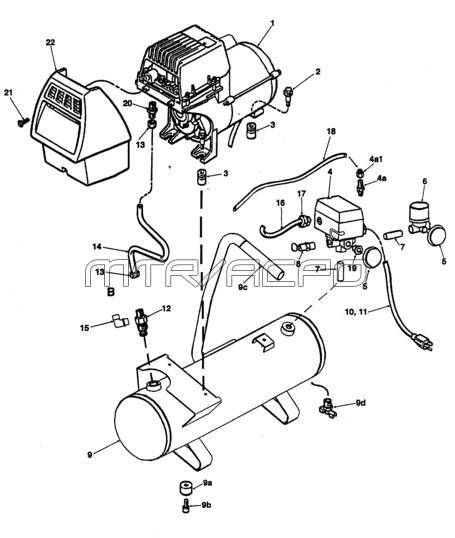 P0200310,VP0200310, C20C025P1D101, C10C025P1D101 - Air Compressor Parts schematic