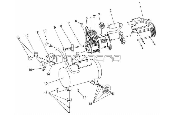 VPP0200604, VP0200604 - Air Compressor Parts schematic