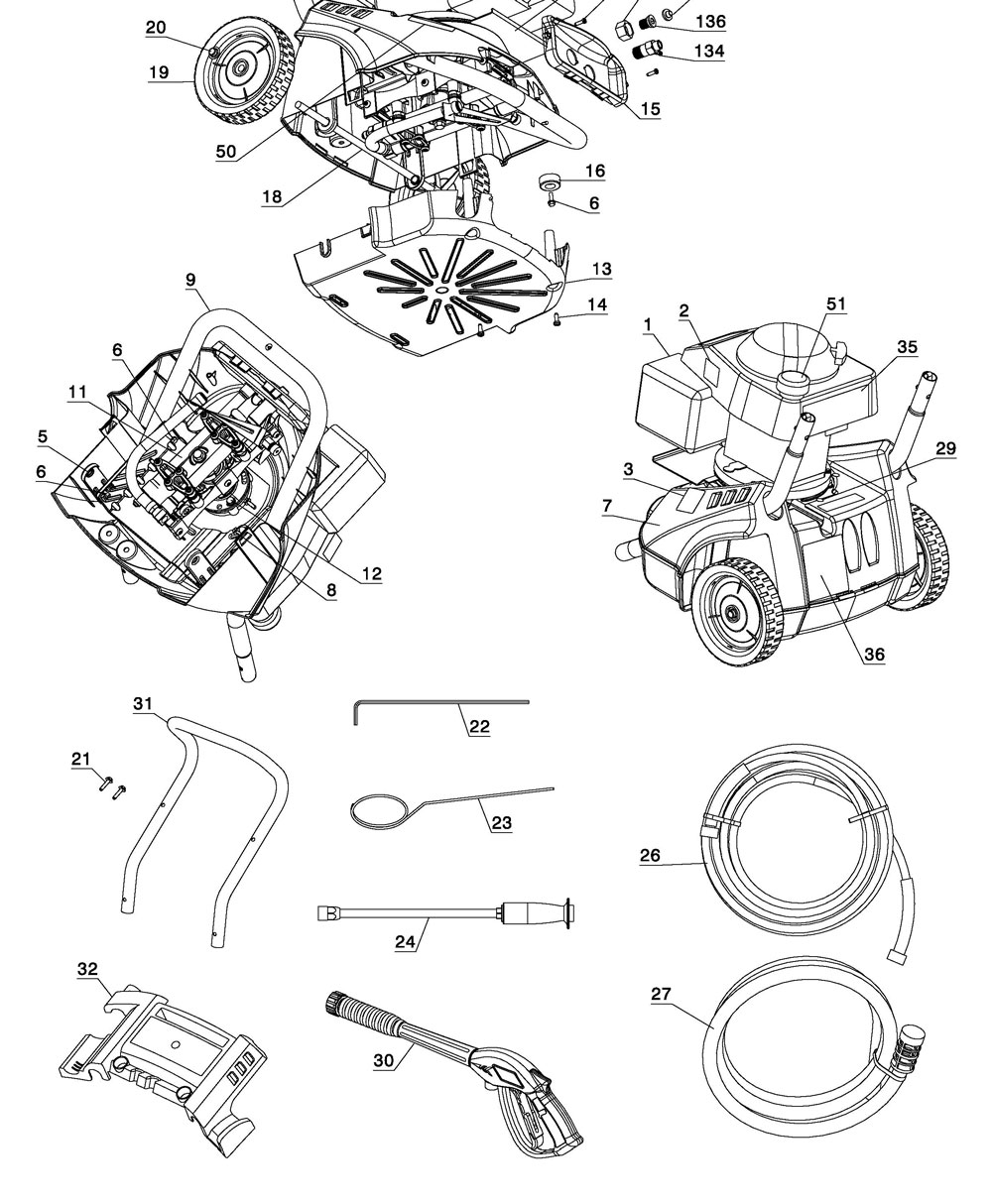 VR2522 - Pressure Washer Parts schematic