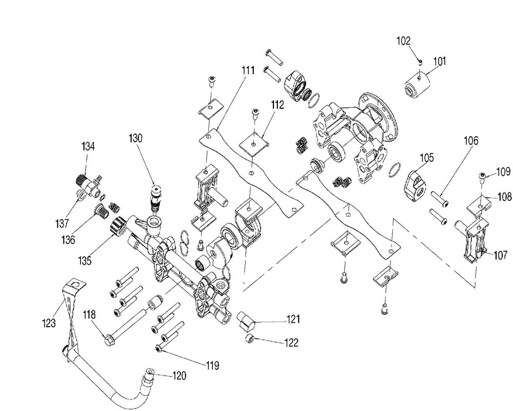A07908 - Pressure Washer Pump Parts. Excell
