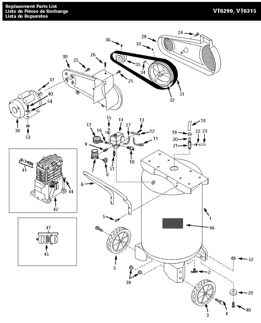 VT6315_tank husky vt6315, vt631502aj parts master tool repair husky air compressor wiring diagram at edmiracle.co