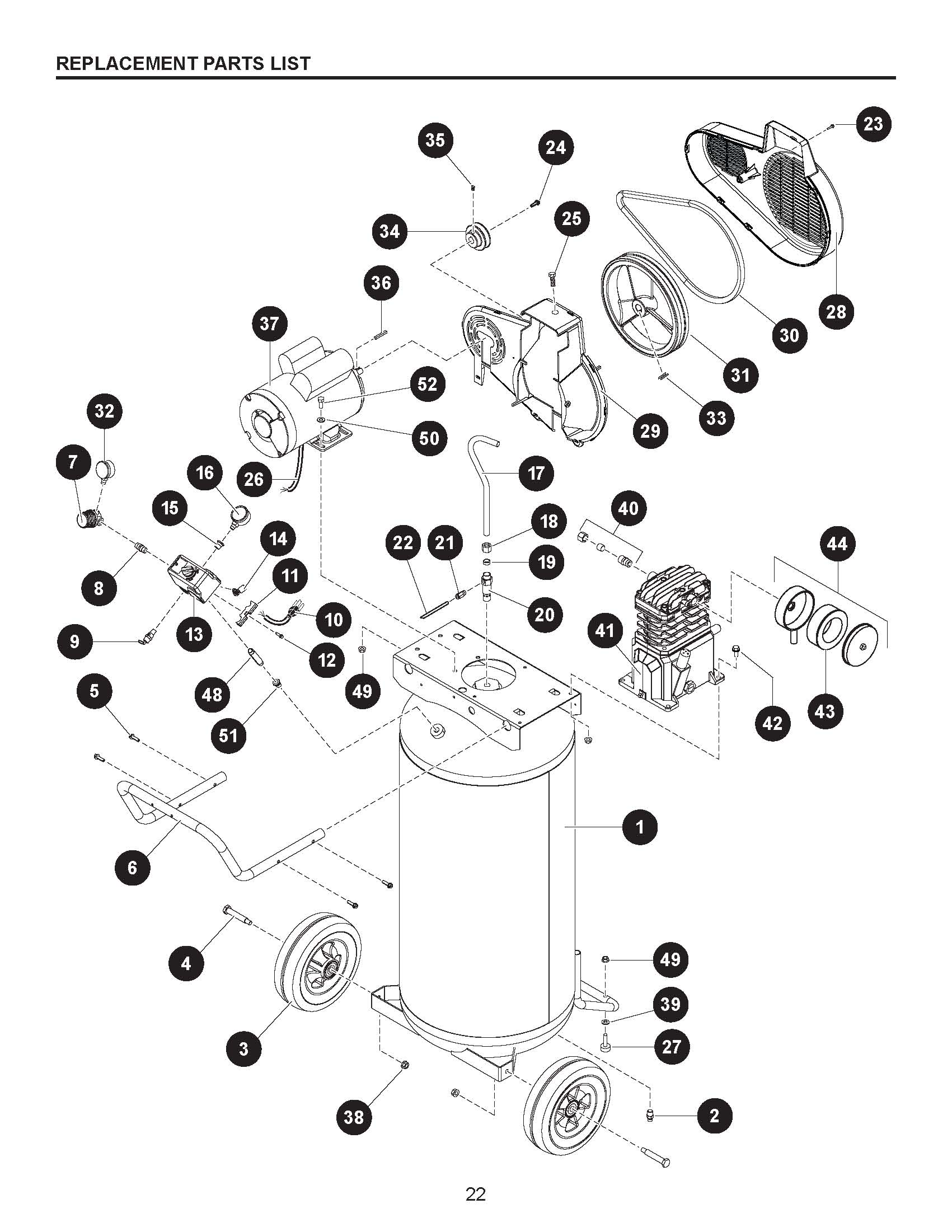 VT6389 - Air Compressor Parts schematic