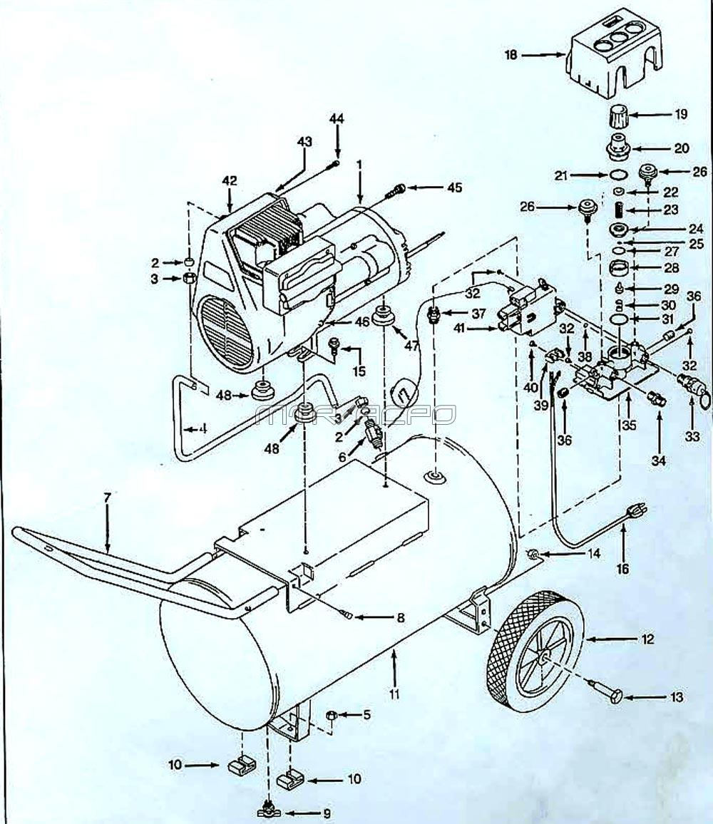 WL600302, WL600302AJ - Air Compressor Parts schematic