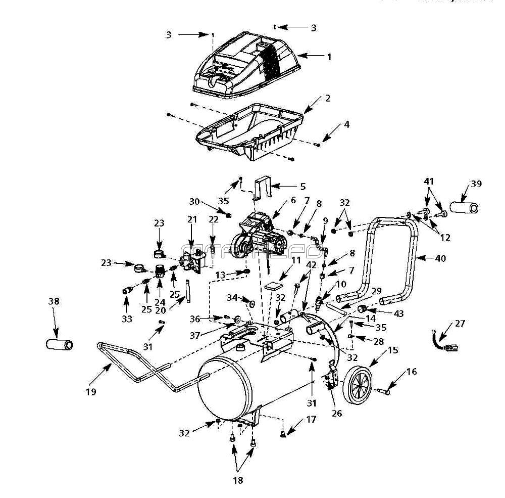 WL650002, WL650002AJ - Air Compressor Parts schematic