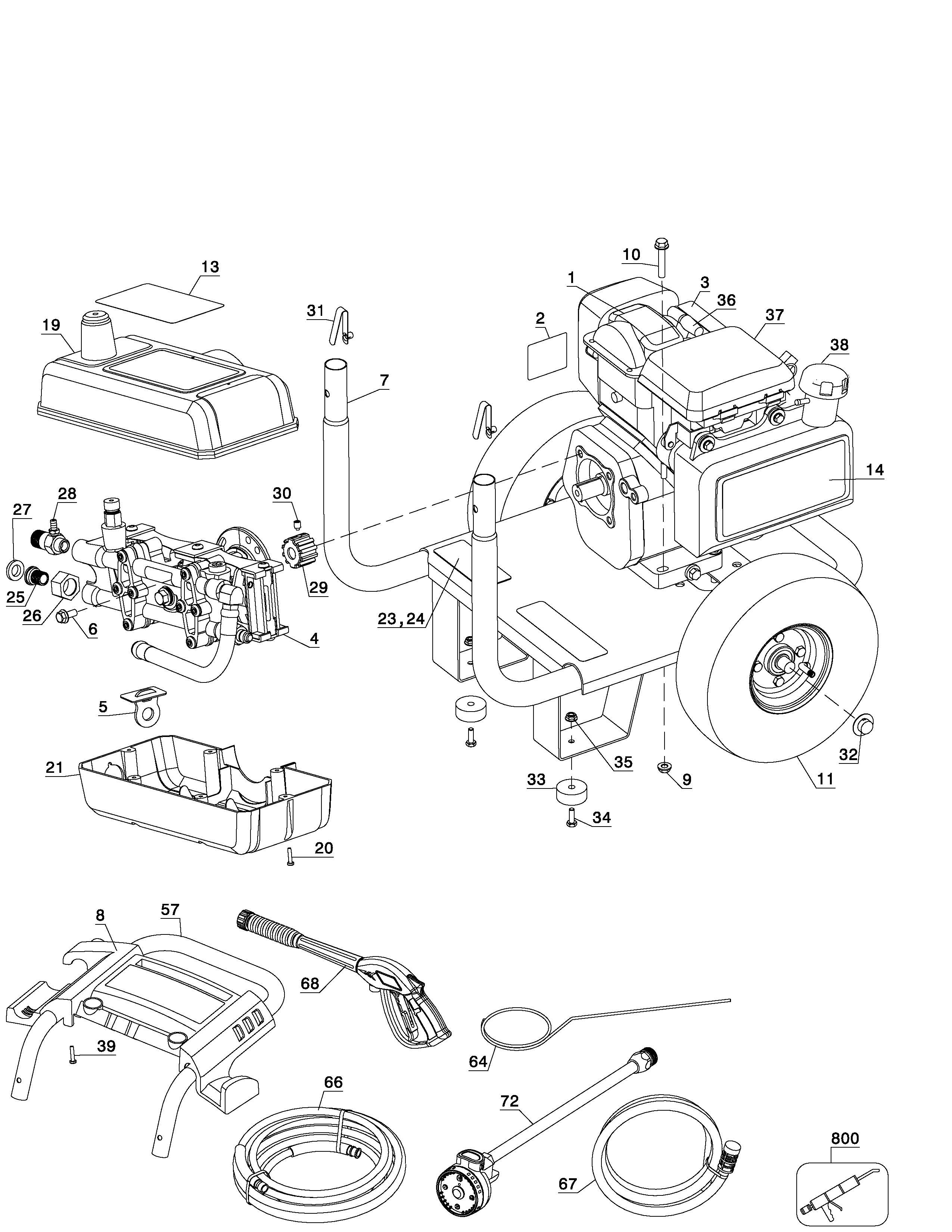 All Power Pressure Washer Parts Earthwise Wiring Diagrams Washers 2550x3300