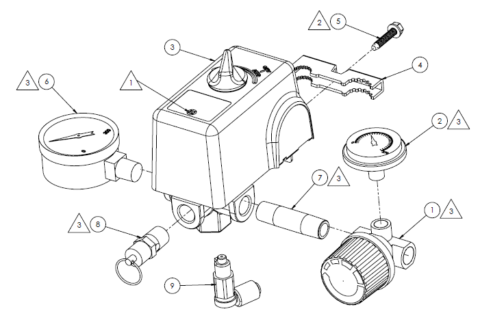 Diagram Of A Air Compressor Pressure Switch