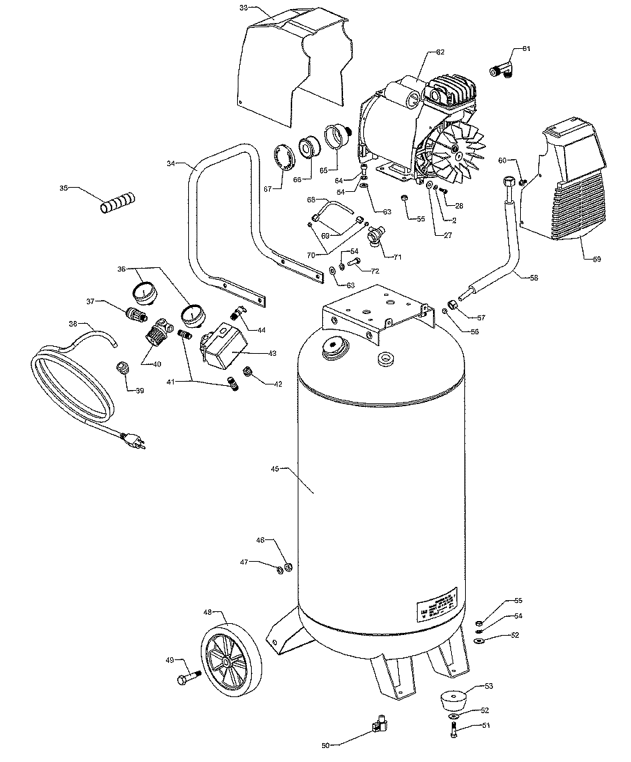 Craftsman Air Compressor Replacement Tank Wiring Diagram And Fuse Box