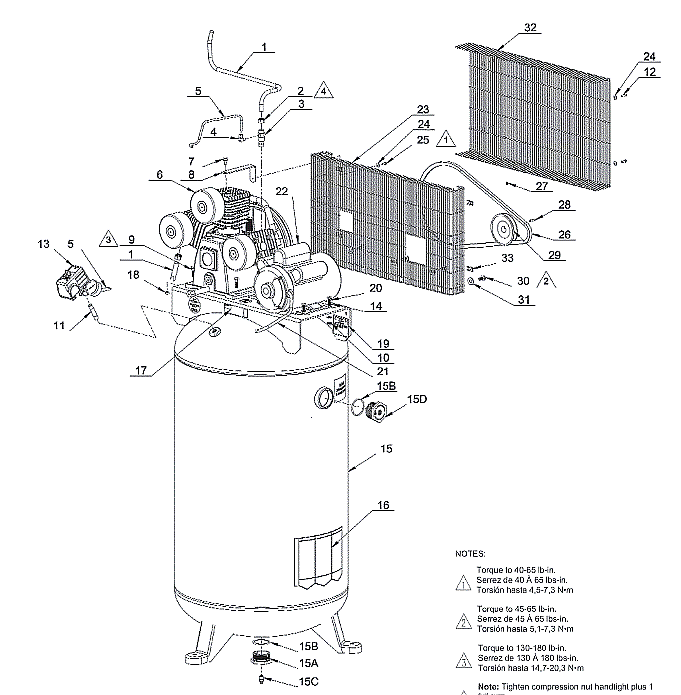 921.16485 - Stationary Air Compressor Parts schematic