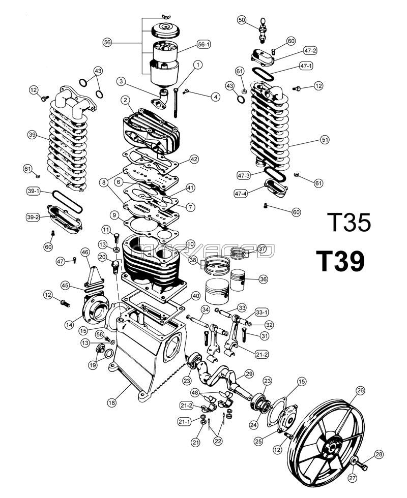 t39t35png belaire 3g3hh, 3g3hhl parts mtr abac air compressor wiring diagram at fashall.co