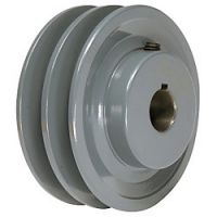 "- 2.75"" to 6\"" Two Groove Fixed Bore Pulleys"