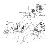 919.167341 - Portable Oil-Free Electric Air Compressor Parts