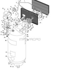 919.167810 - Stationary Single-Stage Electric Air Compressor Parts
