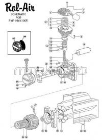 Direct-Drive Oil-Bath Air Compressor Pump Parts - PMP11MK105FI