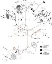 WL611701 - Portable Oil-Free Air Compressor Parts