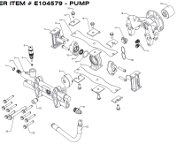 E104579 - Pressure Washer Pump Parts