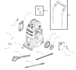 020358, 020358-0 - Pressure Washer Parts schematic