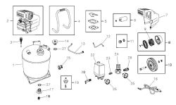 074003, 074004 - Air Compressor Parts schematic