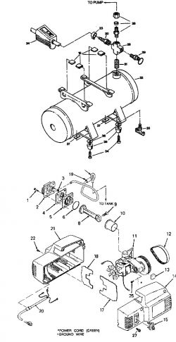 102D, FA752, FA752-1, FA752-2, FAC752-2 - Air Compressor Parts schematic