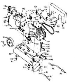 165TG51-8, 165TG51B-8, 165TG51H-8 - Air Compressor Parts schematic