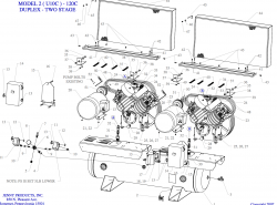 2(U10C)-120C - Air Compressor Parts schematic