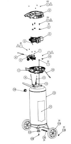 VLK1382209, 215914 - Air Compressor Parts schematic