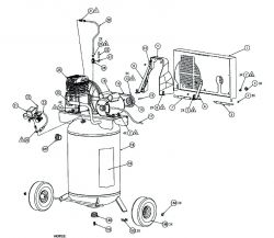 KLA1883054, 215921 - Air Compressor Parts schematic