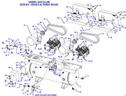 2W5B-80-SSC, 2W5B-120-SSC - Air Compressor Parts schematic